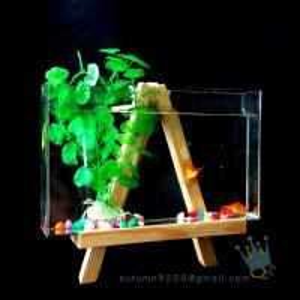 Buy cheap Fake glass acrylic custom fish aquarium with wood base product