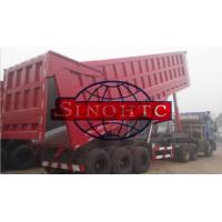 Buy cheap 35m3 Tri Axle Dump Trailer With Assistant Cylinder , 80T Semi Trailer End Dump Truck from wholesalers