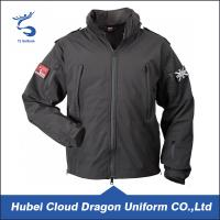 Buy cheap Water Resistant Black Softshell Security Guard Uniform Jackets Mens Workwear from wholesalers