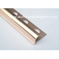 Buy cheap Anti Corrosion Aluminium Round Edge Tile Trim In Polished Rose Gold from wholesalers