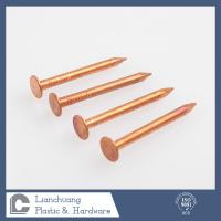 Buy cheap 40mm x3.35 mm Solid Copper Clout Nails , Annular Ring Shank Roofing Nails from wholesalers