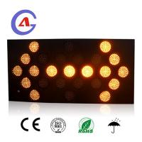 Buy cheap LED Vehicle-mounted Temporary Amber Flashing Arrow Board solar led traffic sign from wholesalers