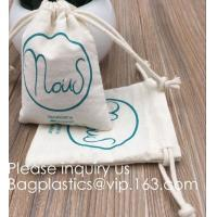Buy cheap Drawstring Bags Reusable Muslin Cloth Gift Candy Favor Bag Jewelry Pouches for Wedding DIY Craft Soaps Herbs Tea Spice B from wholesalers