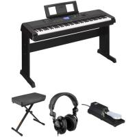 Buy cheap In Stock and free shipping Yamaha DGX-660 88-Key Digital Piano Kit with Bench, Pedal & Headphones (Black) from wholesalers