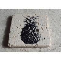 Buy cheap Gifts Plain Stone Coasters , Travertine Square Stone Coasters 10 x 10 cm from wholesalers