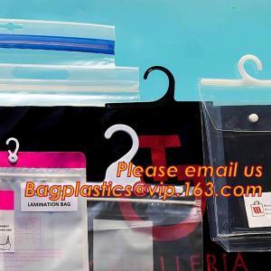 China HANGER HOOK BAGS,GARMENT BOTTON CLOSURE BAGS, EVA FROST DRAWSTRING BAGS, VINYL HANGER HOOK BAG GARMENT LAUNRY BAGS BAGEA on sale