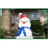 Buy cheap Cute Christmas Santa Snowman Inflatable Holiday Decorations With Santa Hat from wholesalers