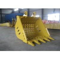 Buy cheap Yellow Hyundai R360 Backhoe Rock Bucket Excavator Ditching Bucket 1.7m³ Capacity from wholesalers