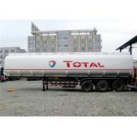 Buy cheap Heavy Duty 3 Axle 45000L Oil Tanker Semi Trailer 4 Compartments 45M3 For Transporting Oil from wholesalers