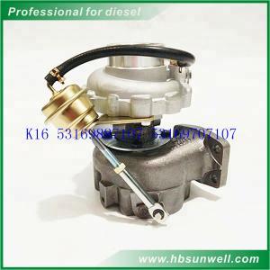 Buy cheap K16 Auto Turbo Charger / Mercedes BENZ ATEGO 917 OM904LA E2 53169707107 Borgwarner Turbos product