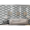 Buy cheap Empaistic 3D Home Decal Natural Fiber Wallpaper , Modern Colored 3D Wall Sticker from wholesalers