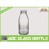 Buy cheap Decored beverage juice water milk 1liter glass bottle with hermetic lid from wholesalers