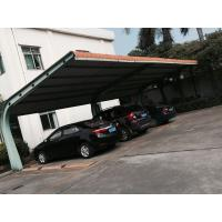 Buy cheap Small Car Parking Shed Garage Steel Frame With Red Arc Shape Roof Top from wholesalers