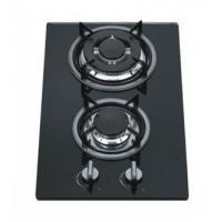 8mm Tempered Glass 2 Burner Gas Hob / Gas Cooker Cast Iron Pan Support