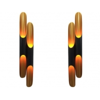 Buy cheap 60*600mm / 80*800mm E27 Bamboo Sconce Inclined Modern Wall Light from wholesalers