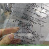 Buy cheap Custom Weeding Invitation Acrylic Glow Sign Board With Silk Screen Printing from wholesalers