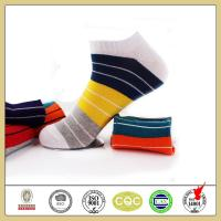 Buy cheap High quality custom colorful striped cotton ankle socks for men from wholesalers