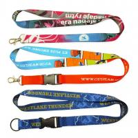 Buy cheap Custom-made colorful Flat polyester / Nylon /  heat transfer / tube /cord / woven lanyard from wholesalers