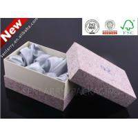Buy cheap Promotional big custom and recycled paper jewelry box with silk certificated by ISO and BV from wholesalers
