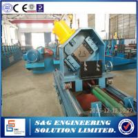 Buy cheap PLC Control Fully Automatic Storage Rack Roll Forming Machine 15kw + 4kw Main Power from wholesalers