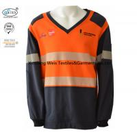 Buy cheap Two Tone Knit Fleece Lightweight Fr Shirts With Reflective Stripes Welder Safety from wholesalers