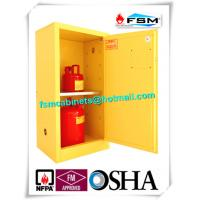 Buy cheap Fireproof Steel Flammable Liquids Cabinet 15 Gallon For Hazmat Storage from wholesalers