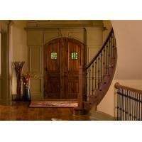 Buy cheap Double Main Oak Solid Wood Doors Red Color Painting Surface For Villa Entry from wholesalers