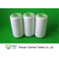 Quality Pure White TFO Plastic Cone Spun Polyester Sewing Thread 20s / 2 Packing By PP Bag for sale