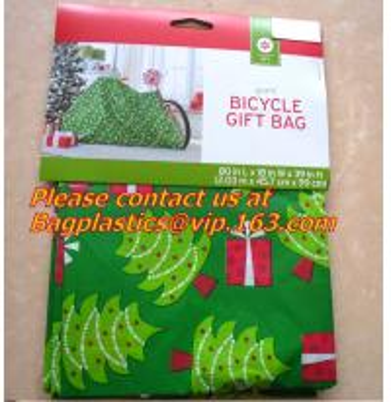 Christmas fancy gift poly bag drawstring santa sack
