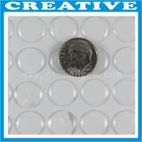 Buy cheap 1/2 Inch round shape clear epoxy resin sticker product