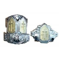 Buy cheap Small Silver Plastic Casket Corners With Iron Tubes American Style from wholesalers