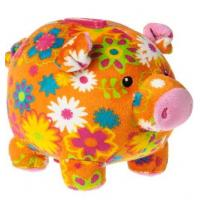 Buy cheap 18cm Cute Pig Piggy Bank Moneky Bank Stuffed Plush Toy For Coin Collection from wholesalers