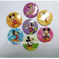 Buy cheap 4C printing  high quality cute mickey mouse printed tinplate button  badge with pin back from wholesalers