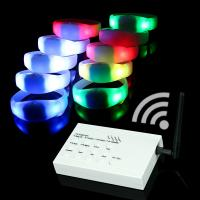 Buy cheap Remote Controlled Flashing LED Silicone Bracelets For Concert,Carnivals, Sporting Events, Party from wholesalers
