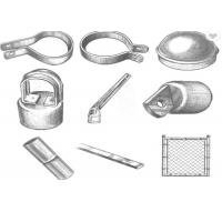Buy cheap Hot Dip Galvanized Chain Link Fence Fittings And Accessories Rust Resistance from wholesalers