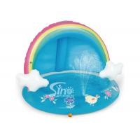 Buy cheap Outdoor Rainbow Inflatable Splash Pool With Canopy For Kiddie Water Play Mat Toy from wholesalers