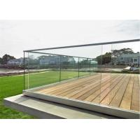 Buy cheap Customized Design U Channel Aluminum Deck Railing Systems Tempered Glass Guardrail For Residential Fence from wholesalers