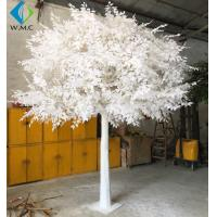 Buy cheap Custom Large Artificial Ficus Plant White Leaf For Indoor Hotel Decoration from wholesalers