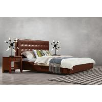 Buy cheap Good quality PU/ Imported Cow ISO9001 Leather Upholstered King Bed Frame Leisure Furniture for Hotel house Bedroom Suite from wholesalers