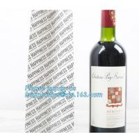 Buy cheap Wholesale Black Color Custom Your Own Logo Printed Recycled Wine Paper Bags,Paper Bag Shopping Wine Garment Cookie Packa from wholesalers