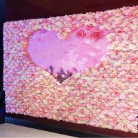 Buy cheap 40*60cm Silk Fabric Coloful Artificial Rose Flower Wall Vertical Garden  Handmade Real Touch from wholesalers