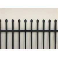 Buy cheap black powder painted used aluminium picket fence from wholesalers