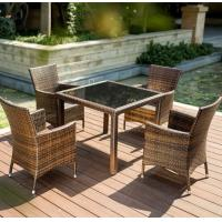 Quality Hotel Furniture PE Rattan chair Outdoor garden wicker chairs and table for sale