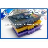 Buy cheap Rectangle Mini Office Stationery Set For Kids Memo and Elastic Black / Orange or Purple from wholesalers