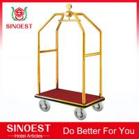 Buy cheap Stainless steel hotel bellman birdcage luggage cart from wholesalers