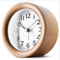 Buy cheap Round Shape Wood Grain Alarm Clock Stopwatch Movement Type 1*AAA Battery Powered from wholesalers
