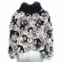 Buy cheap Rex Rabbit Floral Jacket with Fox Trim from wholesalers