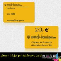 Buy cheap Gold Or Silver Hot Stamp PVC Embossed Business Cards Round Corner from wholesalers
