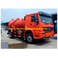 Buy cheap Sinotruk HOWO Sewage Suction Tanker Truck  for cleaning 160 hp 6 wheeler 8cbm from wholesalers