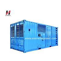 Buy cheap High performance 16 cylinder super silent electric start 1500KVA Cummins diesel generator set with CE certificate from wholesalers